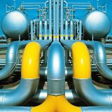 natural gas plant pipes