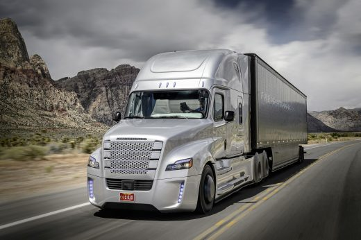 Freightliner Inspiration Truck Unveiled at Hoover Dam. First Licensed Autonomous Commercial Truck to Drive on U.S. Public Highway