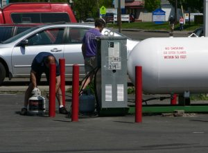 Retail sale of propane in the United States