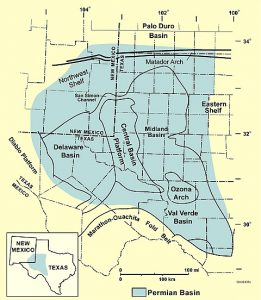 West Texas Permian Basin, West Texas, Permian Basin Map, Texas
