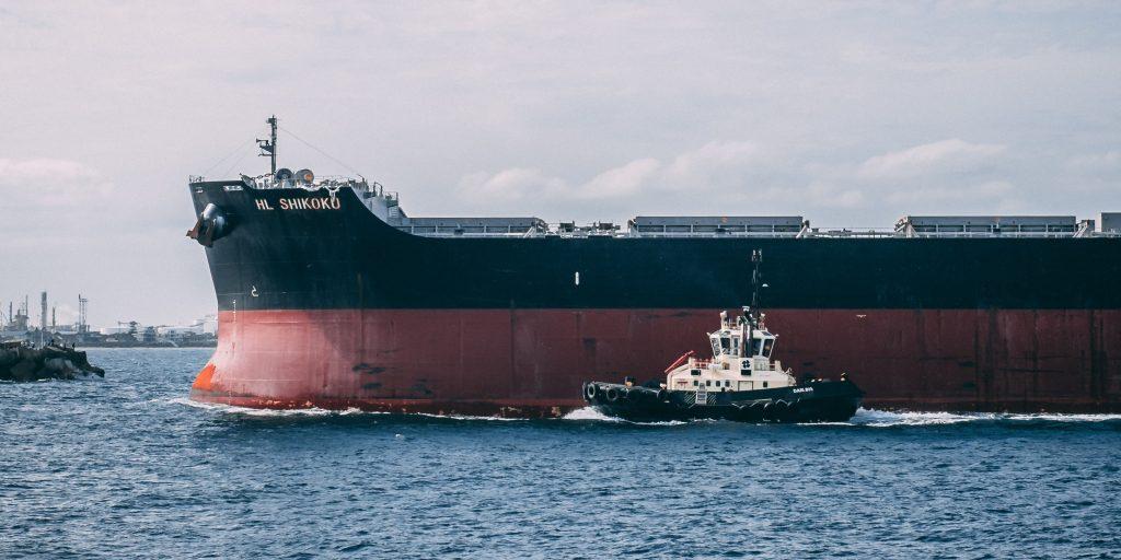 Oil Tanker, Oil tanker in sea