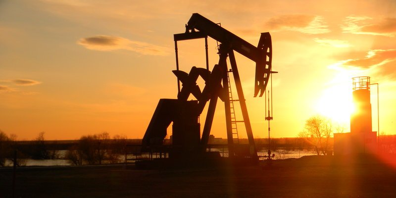 Oil production pump jack, Permian Basin