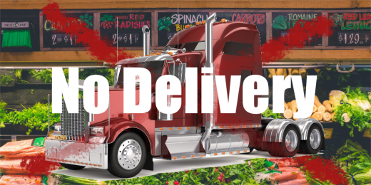 Driver shortage expected to hike food costs-no delivery