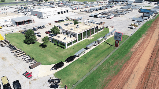 City Trailer and Paint Works Center - Birdseye View