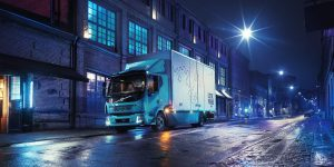 Volvo Trucks , HD Truck, EV Truck,, Night Street