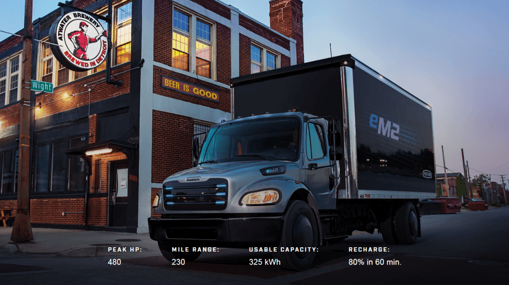 Freightliner eM2 w Info - Daimler Trucks North America, electric innovation fleet