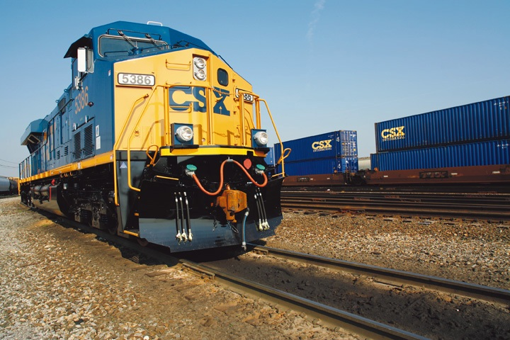 CSX Train with Intermodal Containers, Doublestack car from APCO Worldwide
