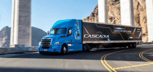 Daimler Trucks North America, Cascadia under bridge