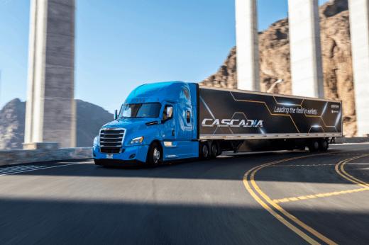Daimler Trucks North America, Cascadia under bridge