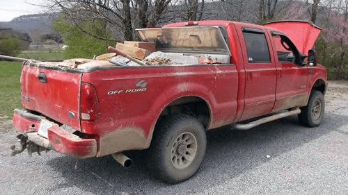 FMCSA Shuts Down Rock City Stone Co - Loaded Truck