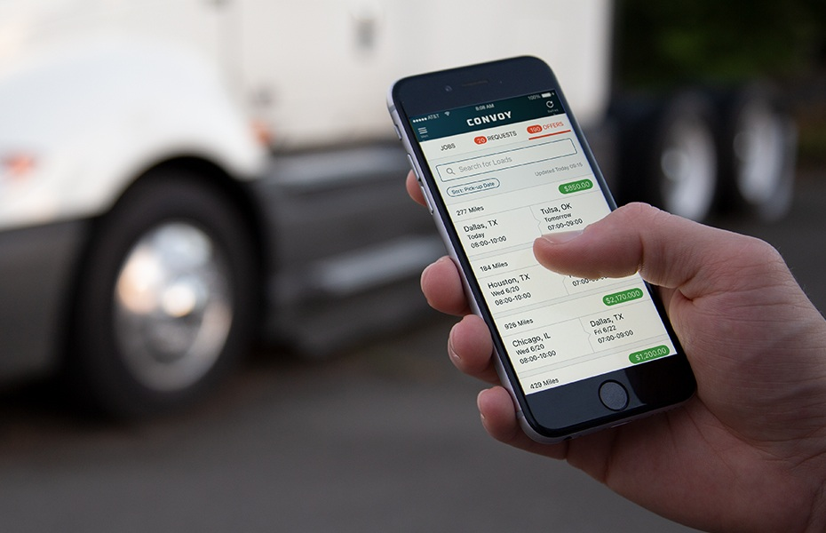 Convoy App, App Connects Drivers to Freight