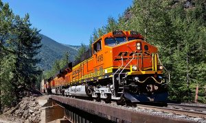 BNSF Railway Locomotive Train, BNSF wants to speed up intermodal service with new capital projects so it can grab a larger piece of e-commerce freight