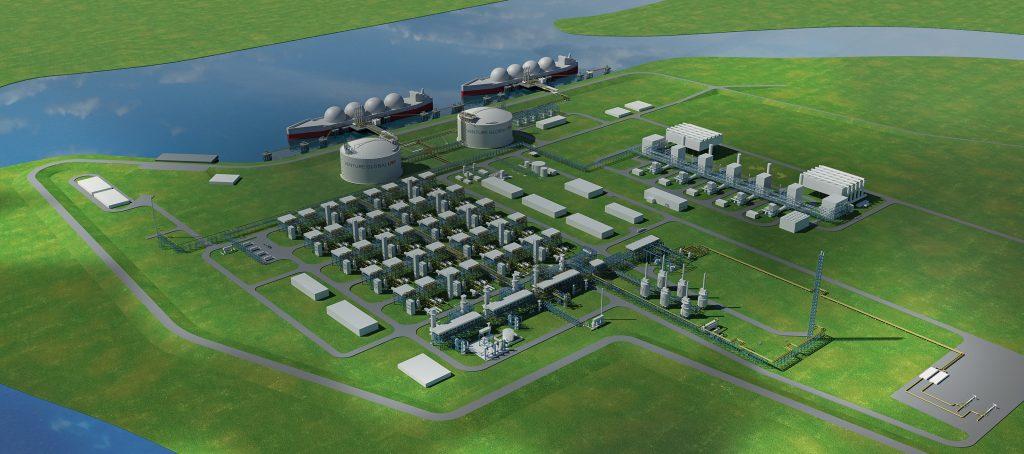 Venture Global LNG - Calcasieu Pass Facility Render