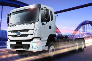 BYD Battery Powered Electric Truck, China's BYD is offering a battery-electric truck in the U.S. market. But its limited range and the company's lack of full-scale manufacturing means its still in the early stages.