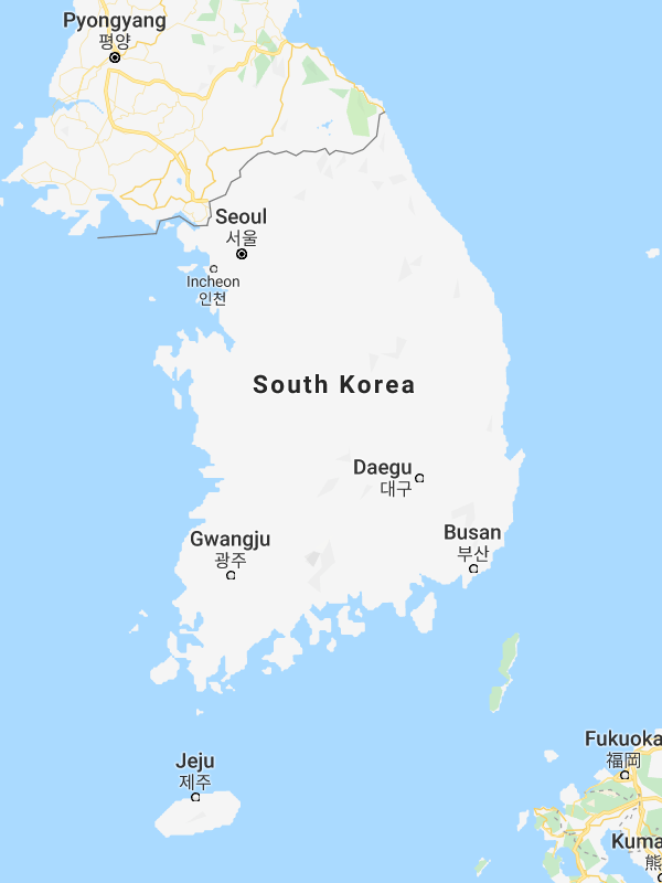South Korea - Google Maps