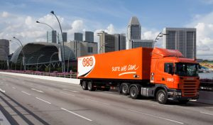 TNT Express Truck on Highway