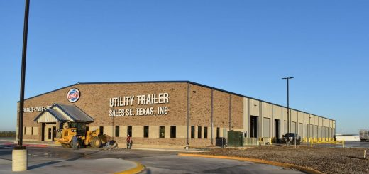 The new, dual-use facility located on historic Route 57 in the city of Eagle Pass, TX, is ideally located to service the new Utility refrigerated trailer factory in Piedras Negras, Coahuila, Mexico, just three miles down the road.