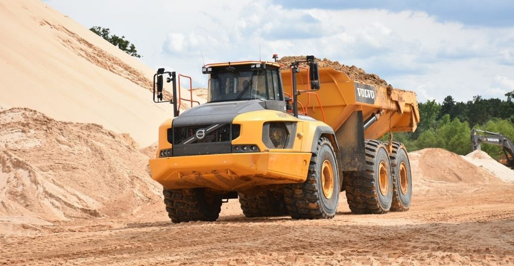 U.S. Silica Fort Worth Texas Volvo A60H Articulated Truck