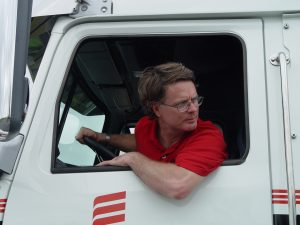 Carroll McCormick in Truck Cab