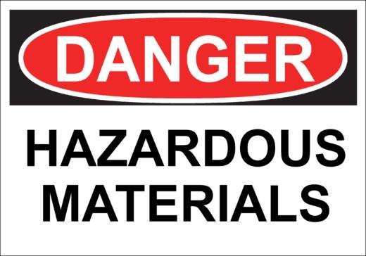 Danger Hazardous Materials