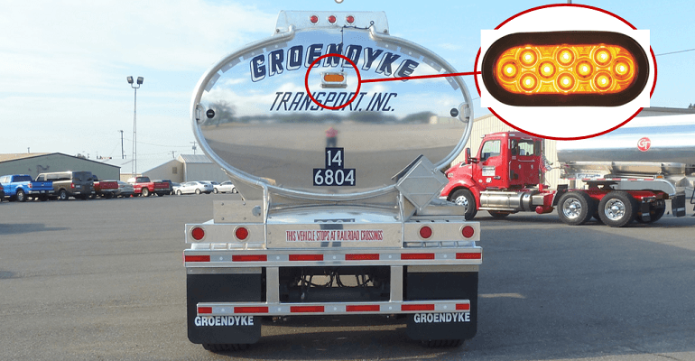 Groendyke Trailer Brake Light, The Federal Motor Carrier Safety Administration (FMCSA) has granted an exemption request from Groendyke Transport Inc. that allow the company to install amber brake-activated pulsating lights on the back of its trailers. Such lights are normally prohibited for non-emergency vehicles. The exemption also preempts state laws that would interfere with operating under its terms in interstate commerce while encouraging states to adopt similar exemptions for intrastate commerce, according to the National Tank Truck Carriers (NTTC) trade group.