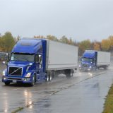 3 Trucks Platooning, Years ago a trucker told me that if a fellow trucker was running low on fuel, he would ask to tailgate another truck. Sneaking along like this, tucked in out of the wind, would lower his fuel burn so he could get to the next fueling station. Whether this story was truth or tale, the concept -- tailgating to save fuel -- has been the subject of some intensive study in recent years. It is called platooning.