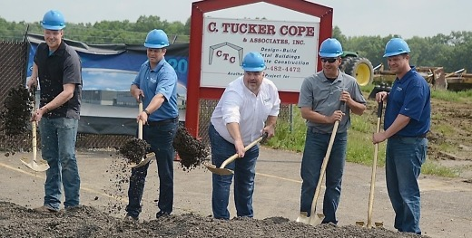 Trailstar International - Ohio Plant Groundbreaking, Trailstar International Inc. of Smith Township, Ohio, broke ground in May on an 85,000-square-foot manufacturing facility that is expected to add about 50 jobs. It is located at 20700 Harrisburg-Westville Road.