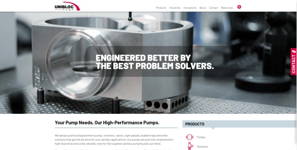 Unibloc Pump's New Site & Branding