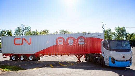 CN Acquiring 50 Electric Trucks