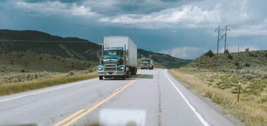 Trucks on Roadway