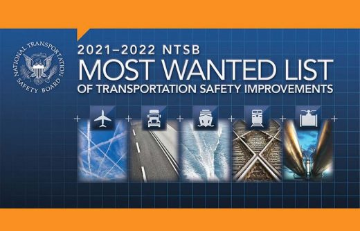 """NTSB Issues """"Most Wanted' List for 2021-2022"""